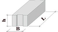 Фундаментный блок ФБС 12-3-6 (1180х300х580)