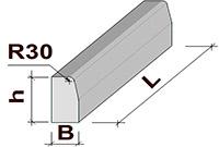 Бордюрный камень БР 100-20-8 (1000x80x200)
