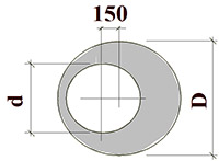 Крышка колодца 1ПП 15-1 (1680x700x150)