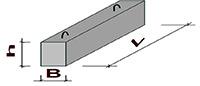 Перемычка брусковая 10ПБ 25-27-п (2460x250x190)