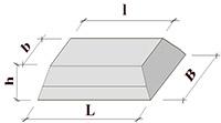 Фундаментная подушка ФЛ 20-8-2 (780x2000x500)